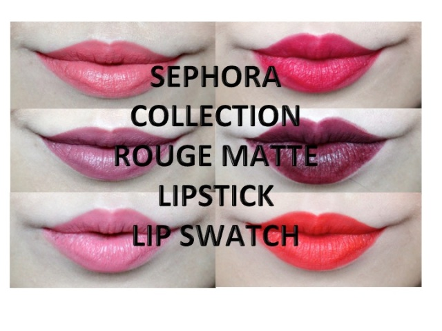 Review Swatches Sephora Collection Rouge Matte Lipsticks