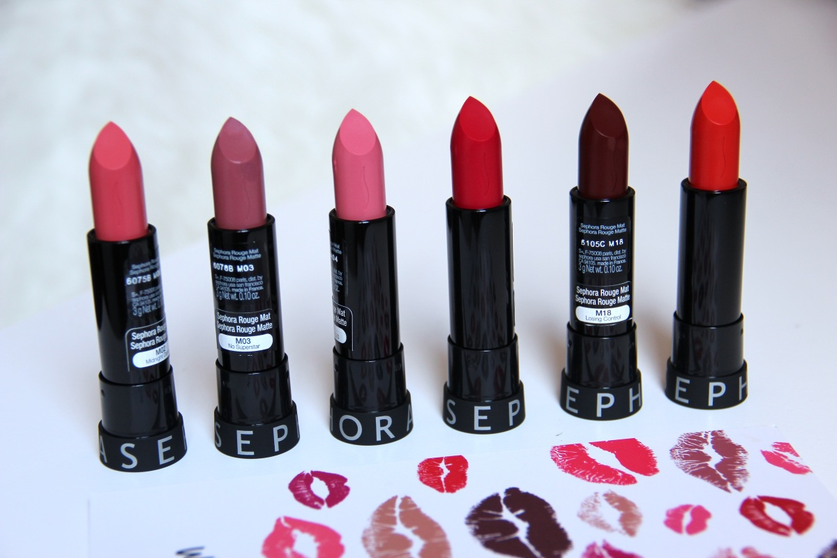 Review + Swatches: SEPHORA Collection ROUGE MATTE Lipsticks