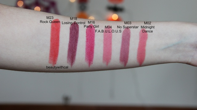 posted sephora rouge matte swatches .JPG